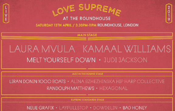 Love Supreme is returning to the Roundhouse